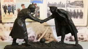 Model of Christmas Truce statue