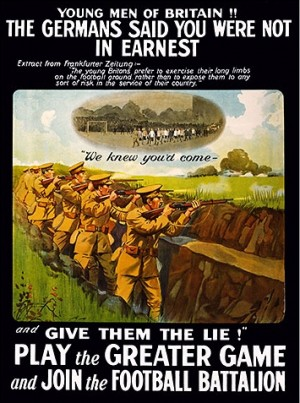 Footballers' Battalion Recruitment Poster